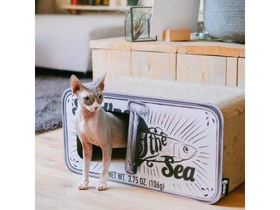 Design Katten Krabmeubel van gerecycled karton - District 70 Sardine - in Black, White of Peach 60x30x30cm