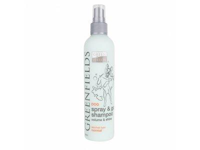 Vacht Verzorgingsset voor Honden met Gevoelige Huid - Greenfields - Krachtige Aloe Vera Shampoo en Spray&Go DroogShampoo 250ML