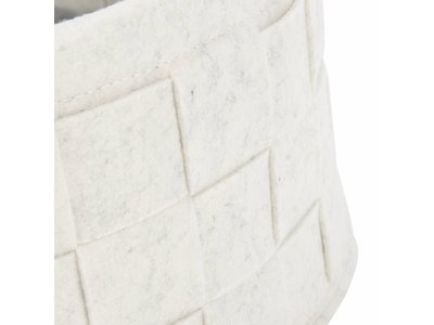 Ronde Kattenmand van  Gevlochten Vilt met Kussen - Scruffs - In Grijs of Wit met een diameter van 45 centimeter