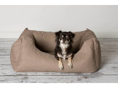 Hondenmand Comfortabel met Afneembare en Wasbare hoes - Rebel Petz Box - Taupe Small