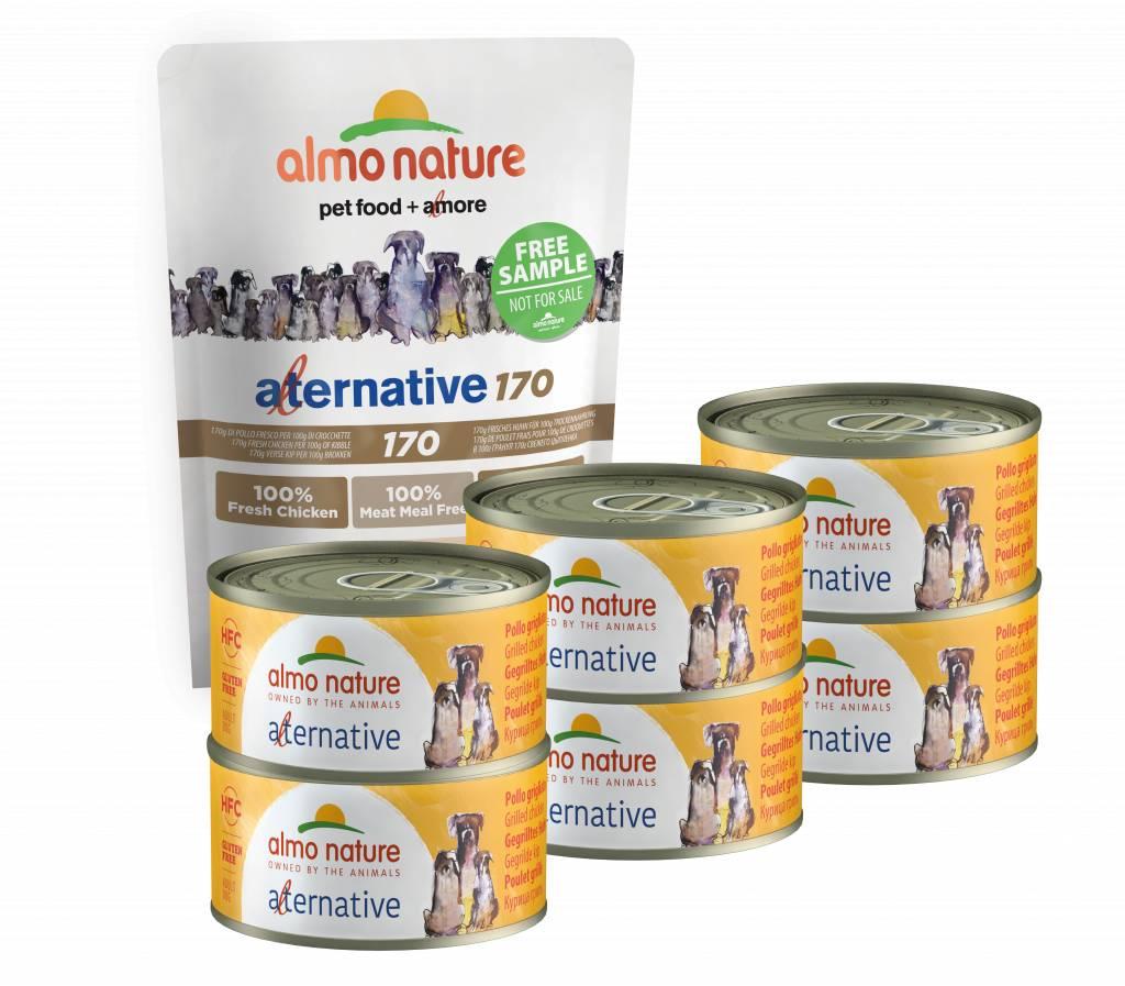 Almo Nature Alternative Natvoer pakket voor honden - Kip