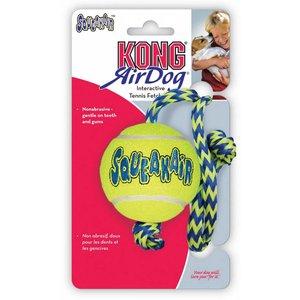Kong tennisbal met pieper en touw