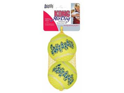 Kong SqueakAir Ball - Tennisbal met uitdagende pieper voor honden  - S / M / L / XL