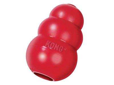 Zeer sterk Hondenspeelgoed - Te vullen met snacks- Kong Classic - Rood in XS to XL - Geschikt voor alle honden.