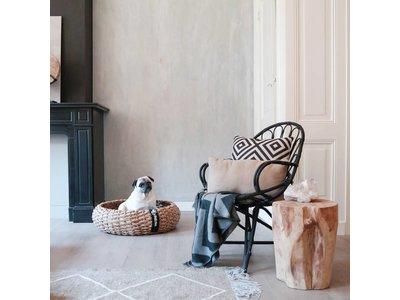 Luxe Hondenmand van Duurzaam Hoogwaardig Riet met zacht kussentje - District 70 - Maten S/M/L