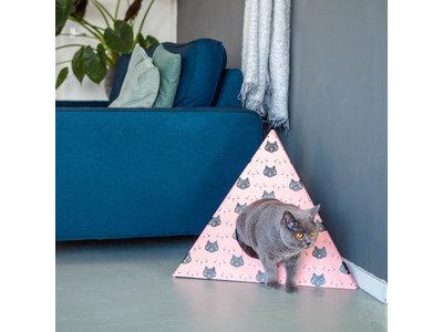 Kattenhuis in Lederlook met kussentje