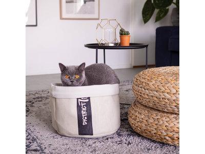 Knusse Kattenmand met wasbaar kussentje - District 70 Cozy - 35x35x30cm in 4 kleuren beschikbaar