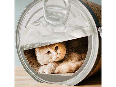 Krabmeubel voor Katten in vorm van Conservenblik