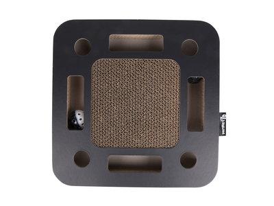 Interactief Krabspeelgoed van Karton met balletje en belletje - District 70 SPY - Zwart of Wit 35x35x6cm