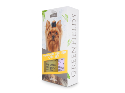 Yorkshire Terrier Vacht Verzorgingsset - Shampoo en Anti-Klit Spray voor Langharige of Krullende Vacht