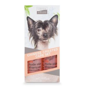 Greenfields Naakt Honden Vacht Verzorgingsset - Shampoo set van twee stuks