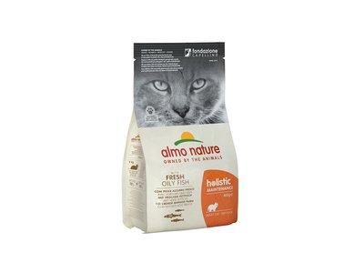 Almo Nature Holistic Droogvoer voor Volwassen Katten - Vette Vis
