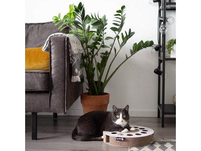 Krabspeelgoed van Karton voor katten - District 70 - Wit & Zwart 33x33x6cm