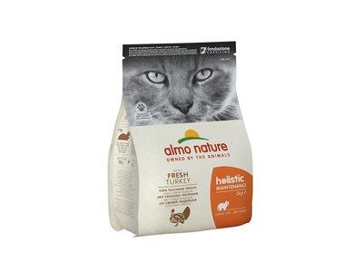 Almo Nature Holistic Droogvoer voor Volwassen Katten - Kalkoen