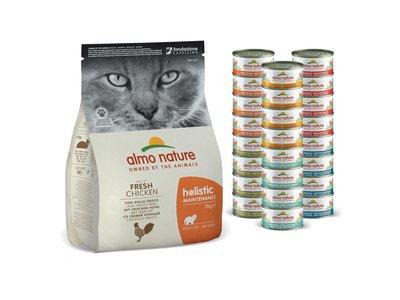 Voordeel Voedingspakket voor Katten - Almo Nature Droogvoer + Natvoer Kip/Vis of Mixed