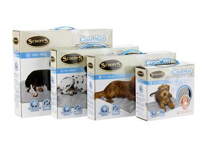 Zelfactiverende Koelmat voor Honden - Activeert zichzelf door gebruik door je hond - Scruffs Koelmat - Blauw of Grijs in maat S/M/L/XL