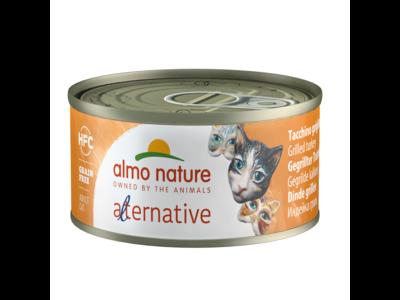 Almo Nature  Natvoer voor Katten - Alternative Blikjes - 24 x 70gr - Verkrijgbaar in 5 smaken