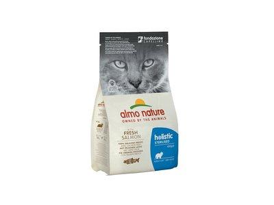 Droogvoer Rundvlees of Zalm voor Gesteriliseerde Katten - Almo Nature Holistic Sterilised - in 400gr of 2kg