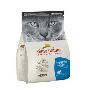 Almo Nature Droogvoer Rundvlees of Zalm voor Gesteriliseerde Katten - Almo Nature Holistic Sterilized - in 400gr of 2kg