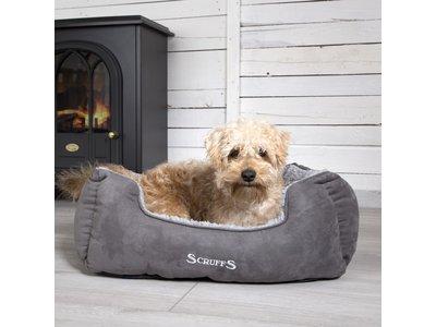 Comfortabele  & Luxe, Zachte Gevoerde Hondenmand - Scruffs - Grijs in Maat S/M/L/XL