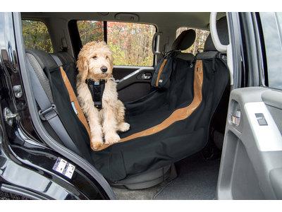 Kurgo - Wander - Hondenhangmat voor in de auto - In Beige, Grijs en Zwart - Waterbestendig