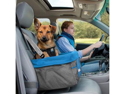 Comfortabele autostoel voor kleine honden tot 13kg - Kurgo Heather in Rood of Blauw - Waterbestendig met wasbare binnenhoes
