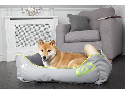 Comfortabele en Duurzame Hondenmand met Warme Fleece hoes - Wasbaar van Gerecycled Materiaal - Scruffs ECO - Grijs in S/M/L/XL