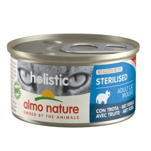 Almo Nature Almo Nature Natvoer voor Gesteriliseerde Katten- Holistic Sterilized Mousse - 24 x 85g