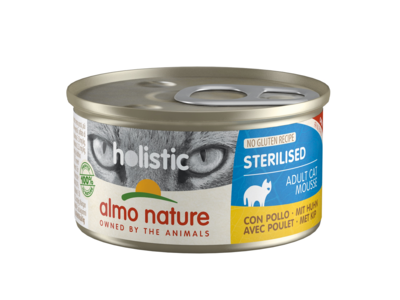 Almo Nature Natvoer voor Gesteriliseerde Katten- Holistic Sterilised Mousse - 24 x 85g