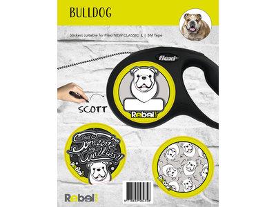 Gepersonaliseerde Flexi Hondenlijn voor Engelse Bulldog