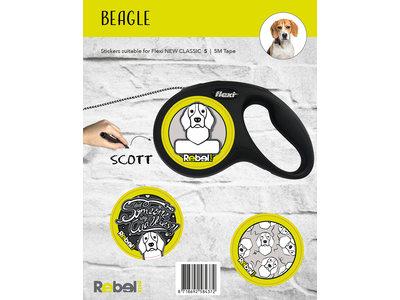 Gepersonaliseerde Flexi Hondenlijn voor Beagle