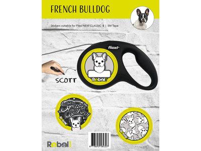 Gepersonaliseerde Flexi Hondenlijn voor Franse Bulldog