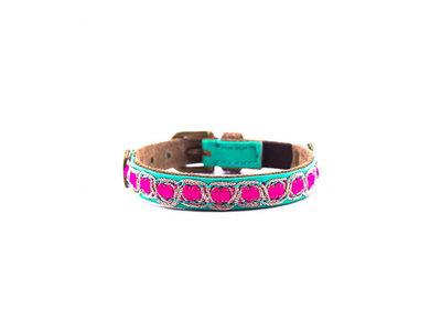 Leren Halsband voor katten - Dog with a Mission Coco - Verstelbaar van 22-27cm