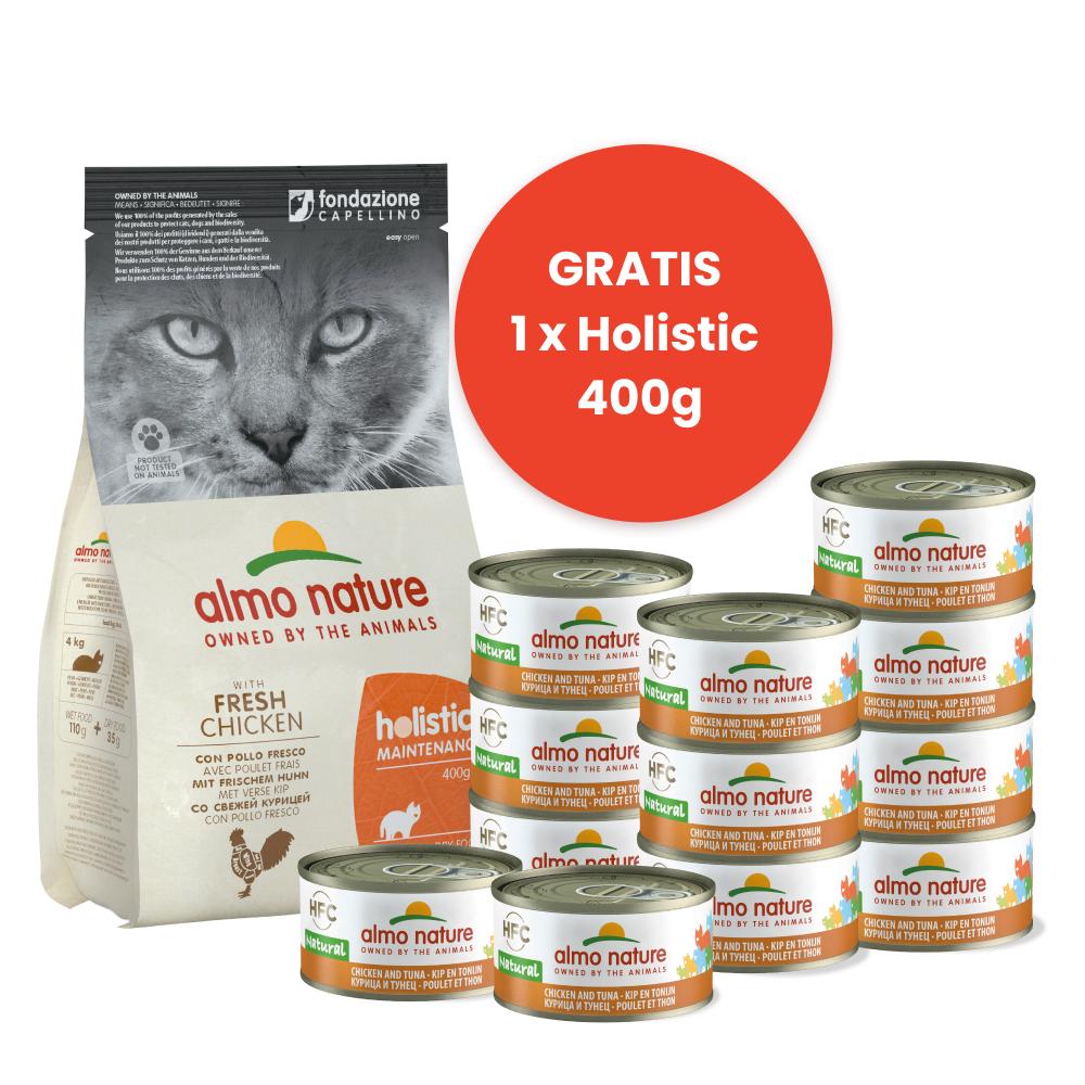 Almo Nature Start Pakket Droogvoer Kip + Natvoer Kip & Tonijn
