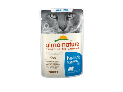 Natvoer voor Gesteriliseerde Katten- Almo Nature - Holistic Sterilized Pouch - 30 x 70g