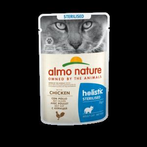 Almo Nature Natvoer voor Gesteriliseerde Katten- Almo Nature - Holistic Sterilized Pouch - 30 x 70g
