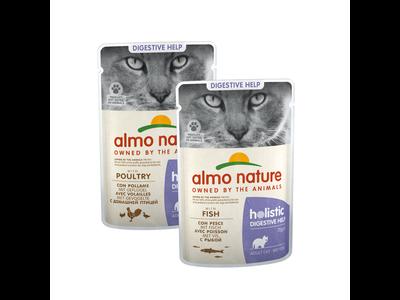 Natvoer voor Katten - Almo Nature - Holistic Digestive Help Pouch - 30 x 70g
