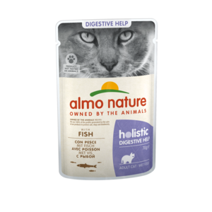 Almo Nature Natvoer voor Katten - Almo Nature - Holistic Digestive Help Pouch - 30 x 70g