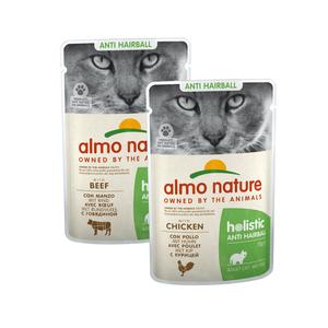 Natvoer voor Katten met Anti-Haarbal formule - Holistic Anti-Hairball Pouch - 30 x 70g