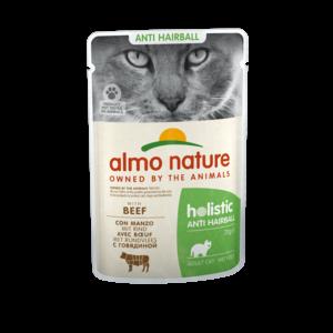 Almo Nature Natvoer voor Katten met Anti-Haarbal formule - Almo Nature - Holistic Anti-Hairball Pouch - 30 x 70g