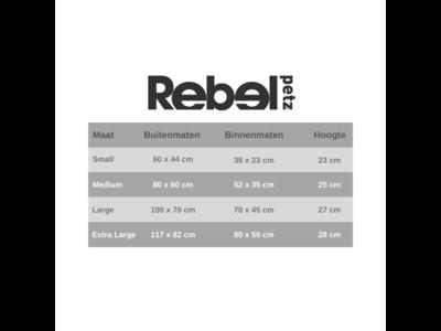 Comfortabele Hondenmand Desert Tan - Rebel Petz -  in S/M/L/XL