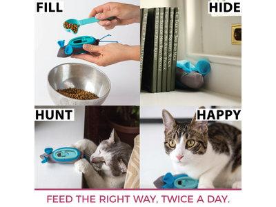 Interactieve kattenvoerbak - Doc & Phoebe Indoor Hunting Feeder - Stimuleer het Jachtinstinct van je kat - Kattenspeelgoed
