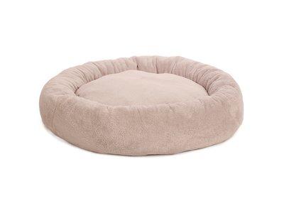 Hondenkussen Rond & Comfortabel - 51Degrees North Teddy Donut - Wasbare hoes Roze, Grijs of Beige in 100cm of 70cm
