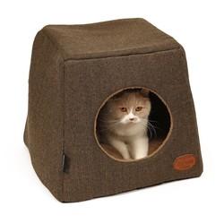 Leuke Kattenmand en Kattenhuis in Bruin en Grijs