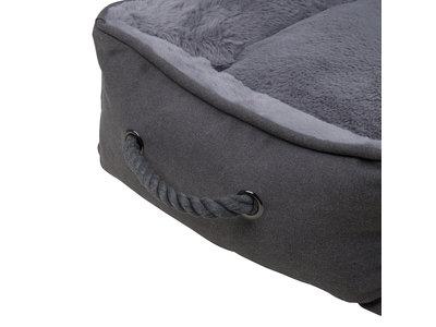 Landelijke Hondenmand - District 70 SNUG Box Bed - Grijs & Zand in S/M/L