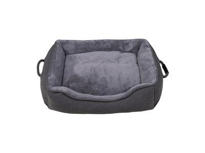 Landelijke Hondenmand - District 70 SNUG Box Bed met afneembare en wasbare hoes - in Grijs of Zandkleur in S/M/L