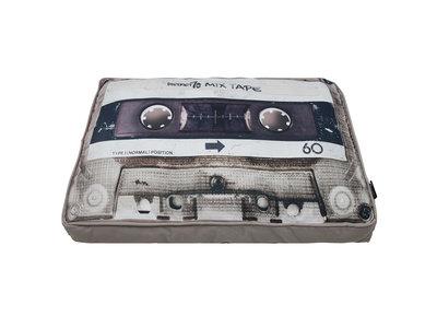 Mixtape Hondenkussen in 2 kleuren - District 70 MIXTAPE Pillow - Zwart & Zand - 100 x 70 cm