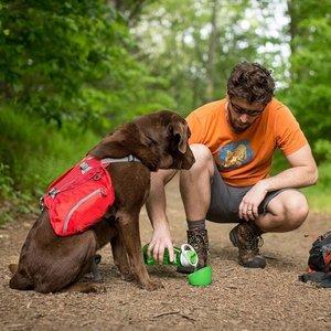 Kurgo Gourd H2O Bottle & Bowl - Drinkfles voor jou en waterbak voor de hond in één