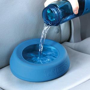 Kurgo Splash-Free Wander Water Bowl - Voer-/drinkbak voor in de auto