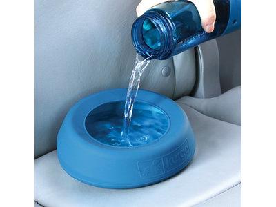 Kurgo Splash-Free Wander Water Bowl - Voer-/drinkbak voor in de auto  - Blauw, rood
